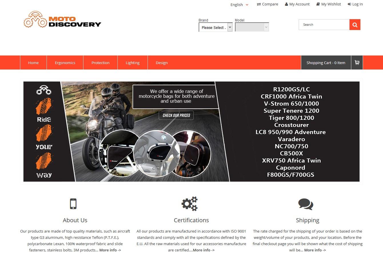 moto-discovery.com - Magento eshop