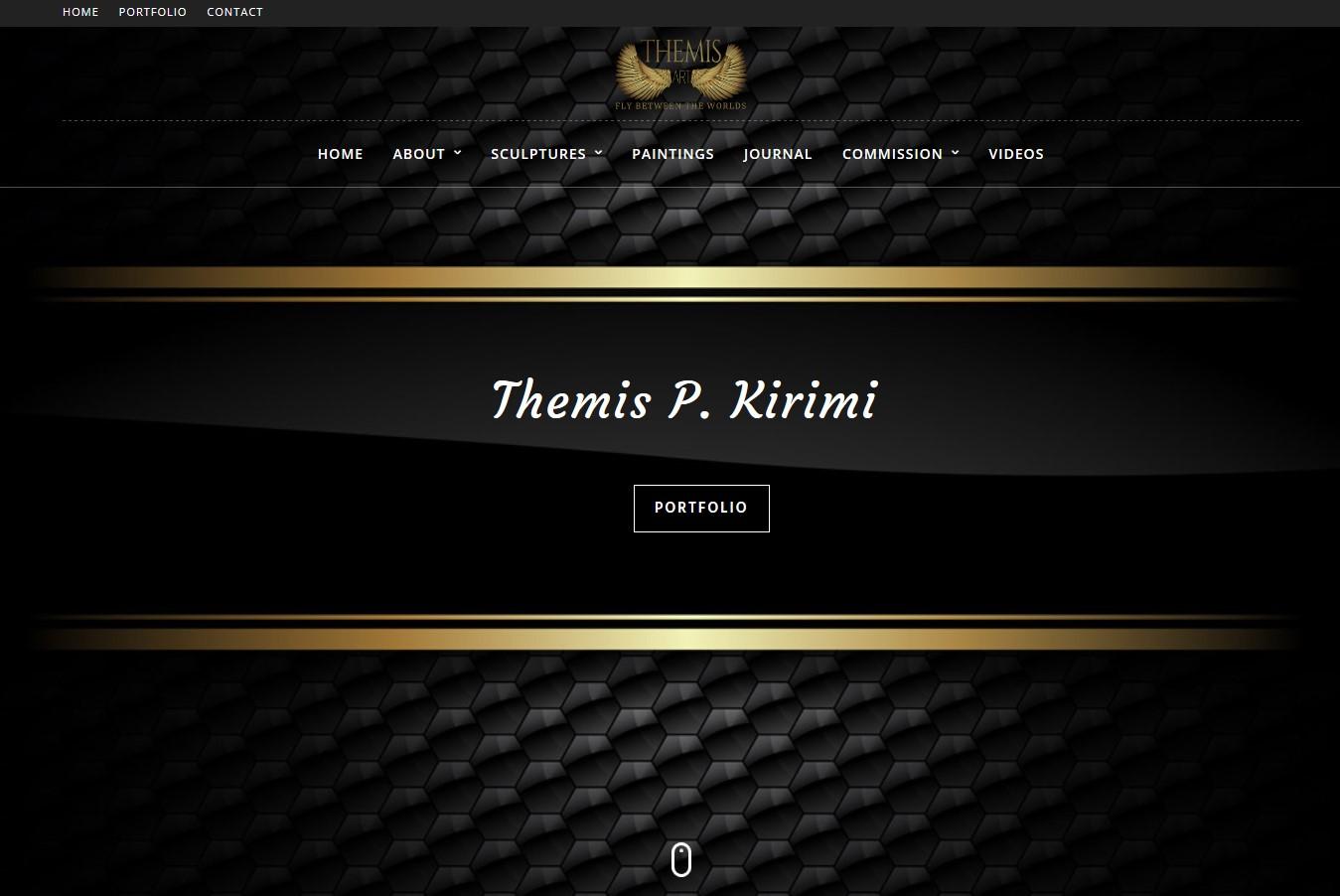 Themisart.com - Κατασκευή ιστοσελίδας σε WordPress